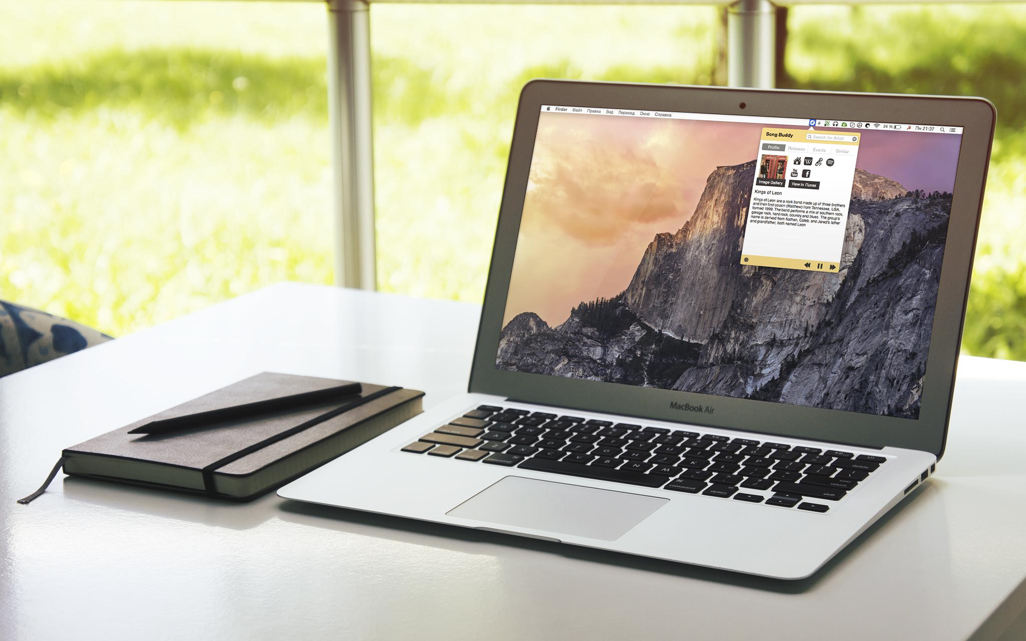 Song Buddy для Mac подскажет всю информацию об играющем исполнителе