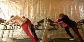 ВИДЕО: Нестандартные тренировки на беговой дорожке