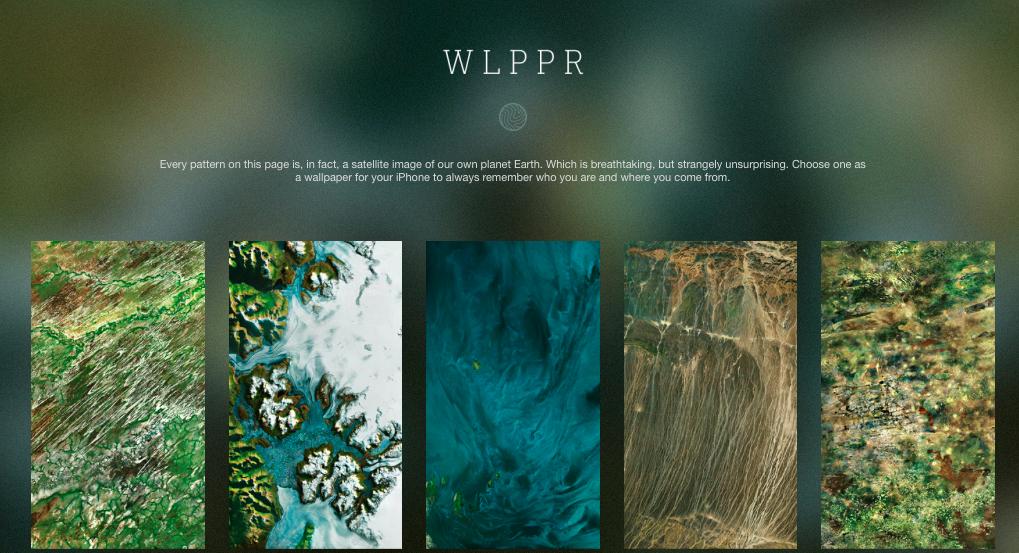 WLPPR: Красивейшие обои для iPhone на основе спутниковых снимков