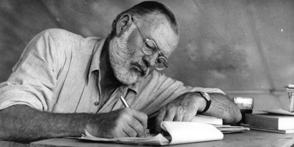 an analysis of literal styles used by ernest hemingway in his writings Literary analysis: the old man and the sea ernest hemingway~{/~}s novella, ~ this novel is written in a simple style which has a straightforward plot.
