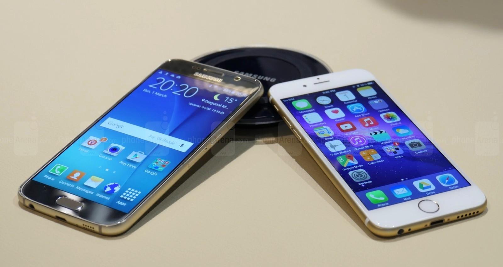 Galaxy S6 vs. iPhone 6 — сравнение двух флагманов