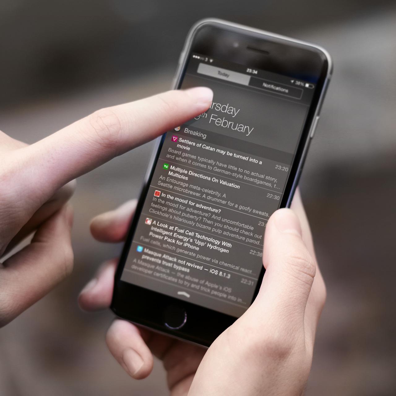 Breaking для iOS и OS X позволяет читать RSS-ленту прямо в центре уведомлений