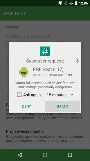 Push Notifications Fixer superuser