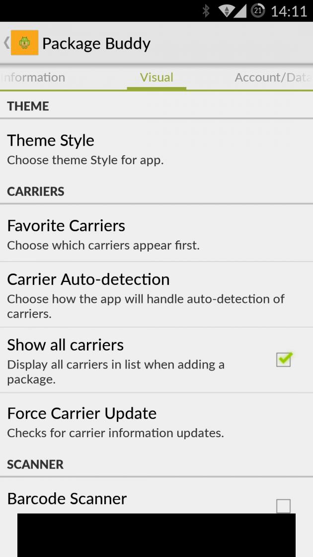 Отслеживание почтовых отправлений с Package Buddy для Android