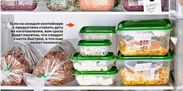 Маркировка в холодильнике