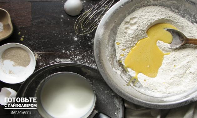 Готовим пончики в духовке: смешиваем ингредиенты