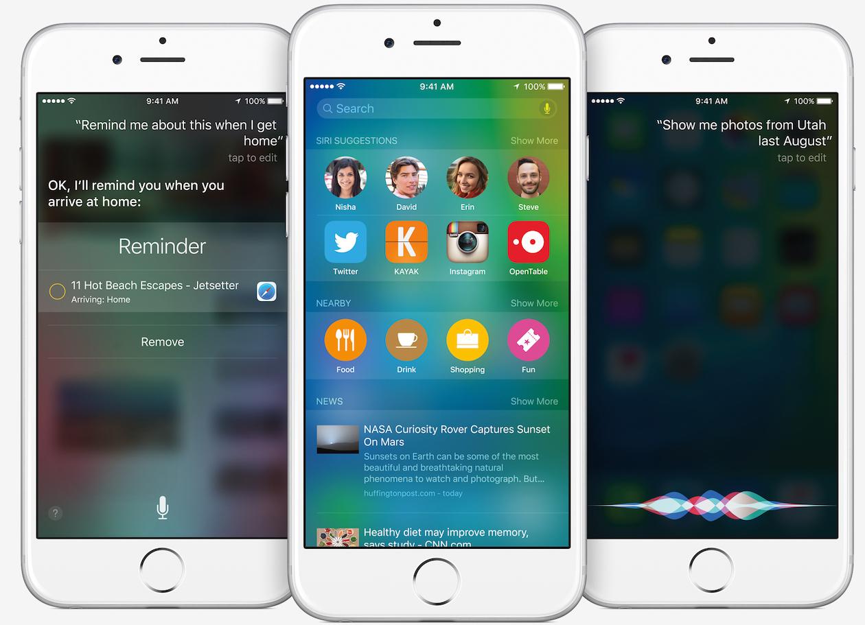 Siri в iOS 9. Что нового