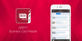 ABBYY Business Card Reader — сохранение визиток в смартфон в один тап