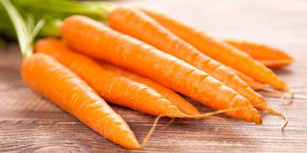 Морковь — продукт против старения