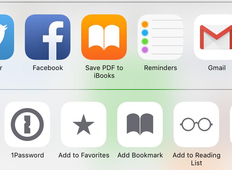 В iOS 9 можно быстро сохранять PDF-файлы в iBooks