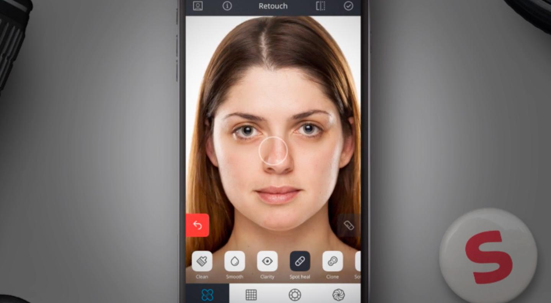 Relook для iOSудалит дефекты с лица на фото