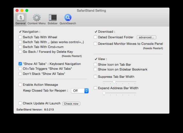 SafariStand делает Safari для OS X функциональнее, чем когда-либо