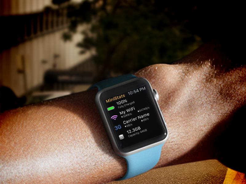 MiniStats позволяет следить за iPhone прямо с Apple Watch