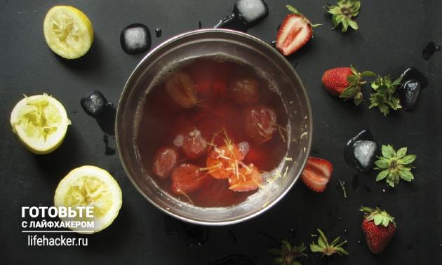 Освежающий клубничный лимонад: варим сироп