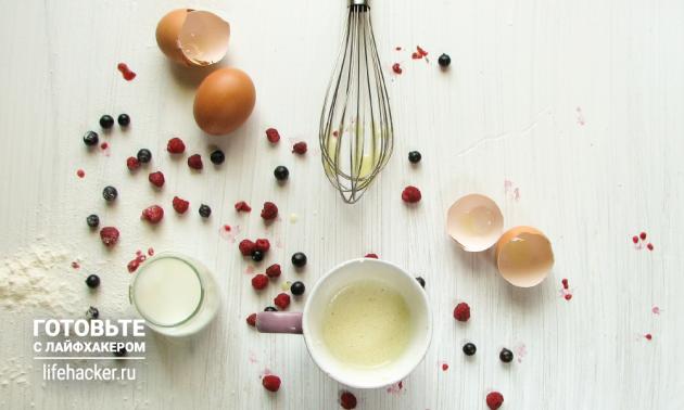 Очень быстрый ванильный бисквит: растопите сливочное масло