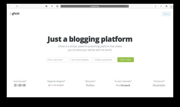 Блог-платформы: Ghost