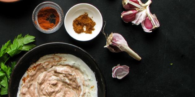 Йогуртовый маринад для мяса