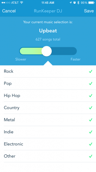 RunKeeper теперь подстраивает музыку под темп бега