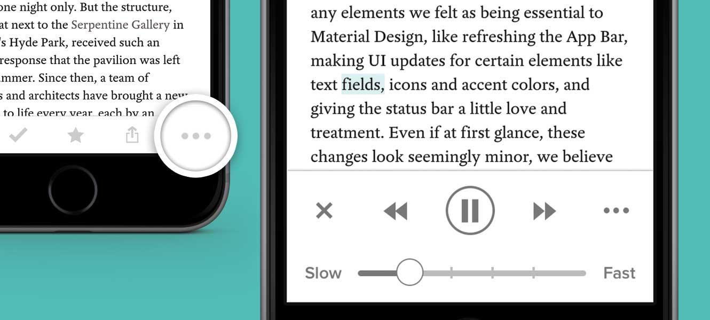 iOS-версия Pocket научилась читать вслух сохраненные статьи
