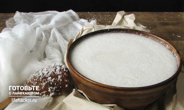 Как сделать кокосовое молоко в домашних условиях: замоченный кокос оставьте набухать