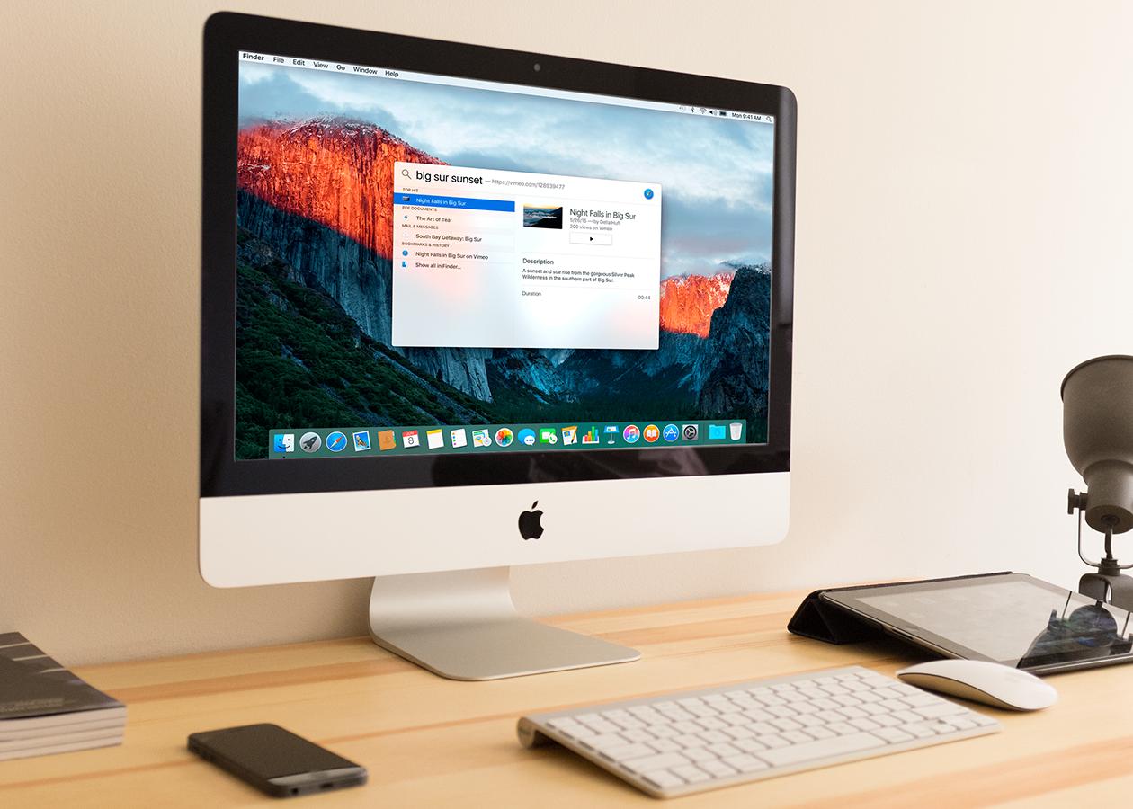 Новые возможности «естественного поиска» Spotlight в OS X El Capitan