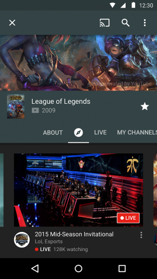 YouTube Gaming android 2