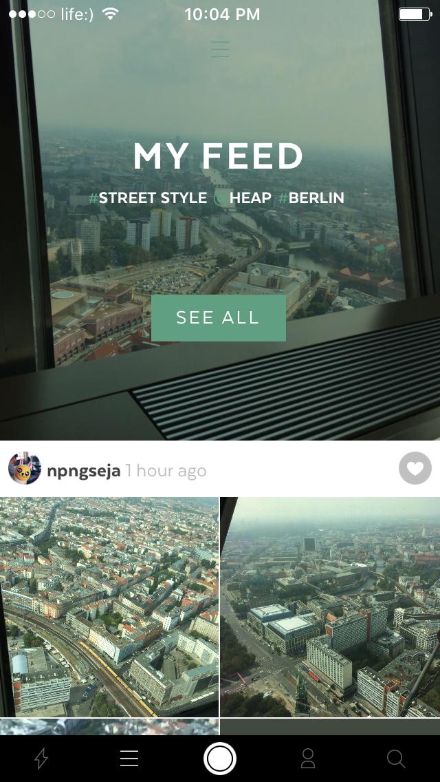 Heap для iOS — делитесь впечатлениями, комбинируя фотографии, видео, текст и аудиофайлы