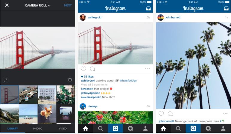 В Instagram теперь можно загружать не только квадратные фото