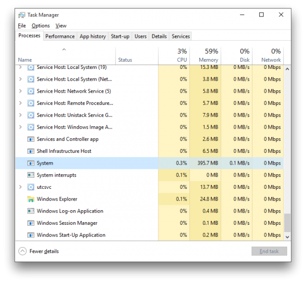 Windows 10 build 10525 memory