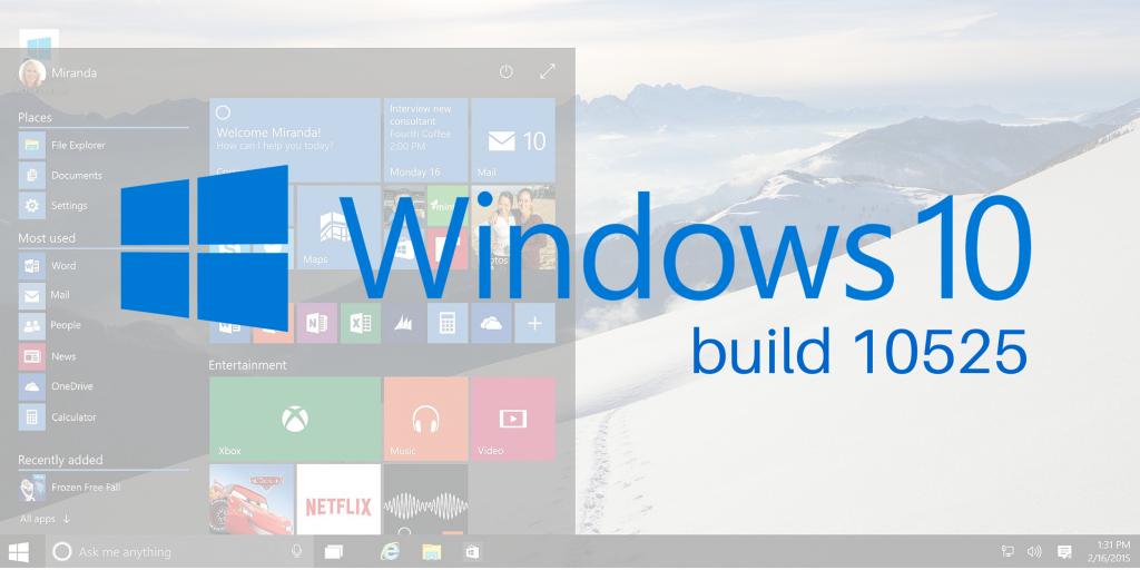 Microsoft опубликовала свежую сборку Windows 10. Что нового
