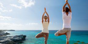 Тренировка вдвоём: парная йога