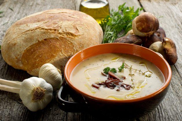 Рецепты с грибами: грибной суп-пюре