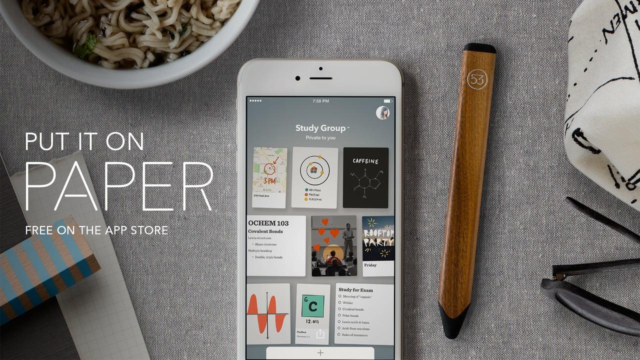 Paper появилось в версии для iPhone и получило новые функции