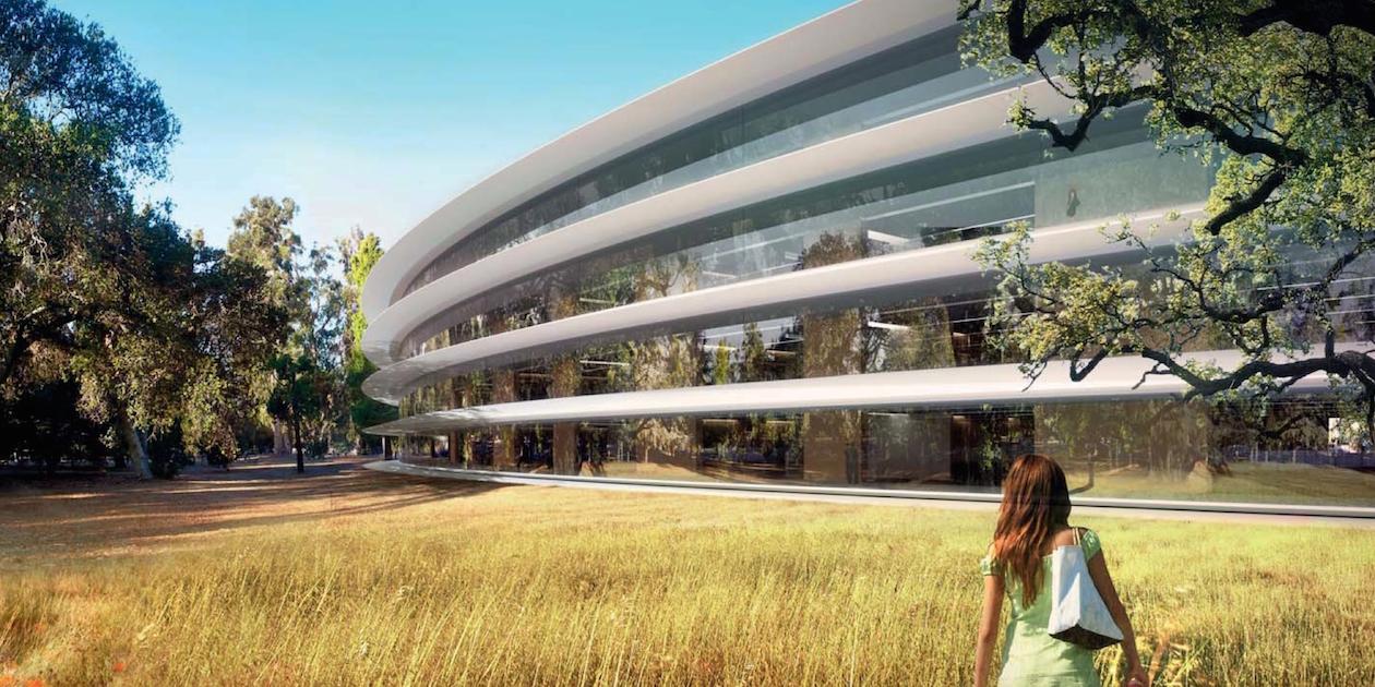 ВИДЕО: Как выглядит новый кампус Apple прямо сейчас