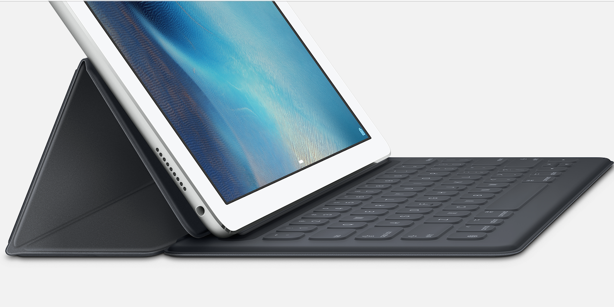 Apple представила Smart Keyboard - внешнюю клавиатуру для iPad Pro