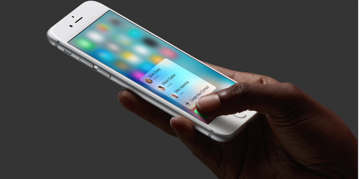 3D Touch может «убить» стандартное меню в приложениях