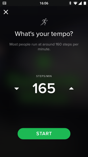 Spotify Running tempo