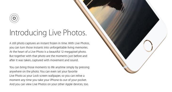 """Live Photos — технология создания """"живых снимков"""" для iPhone 6s и 6s Plus"""