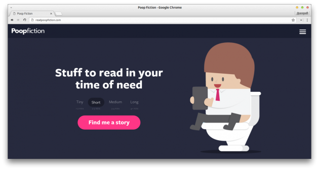 Poop Fiction web app