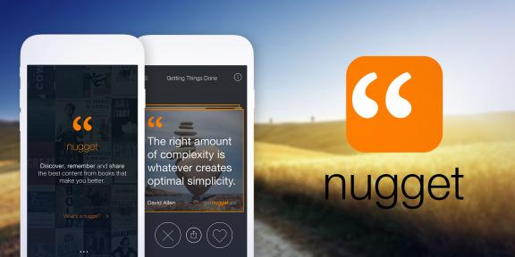 Nugget: ключевые цитаты из книг жанра нон-фикшн в одном приложении