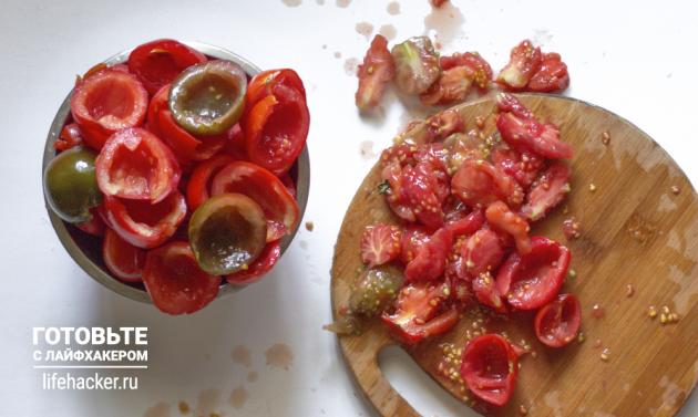 Как приготовить вяленые помидоры в домашних условиях: удалите сердцевину