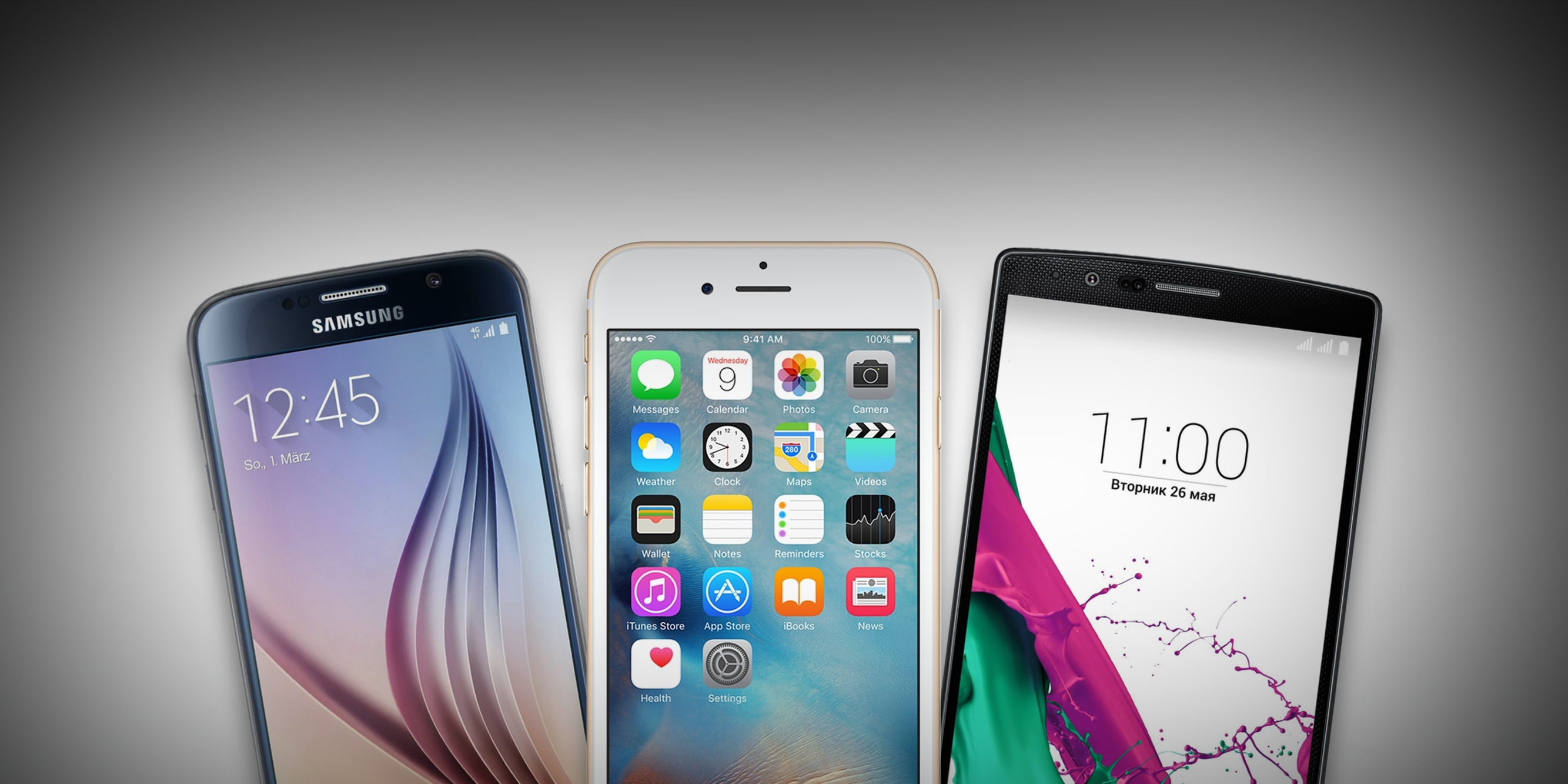 Сравнение характеристик iPhone 6s и флагманов Samsung и LG