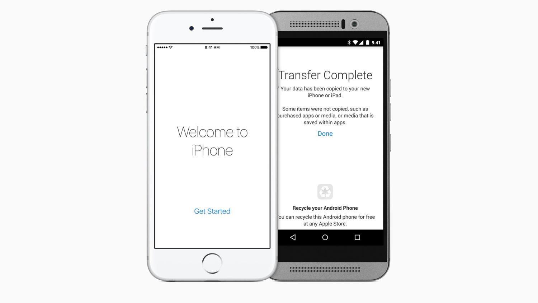 Apple выпустила приложение для перехода с Android на iOS 9