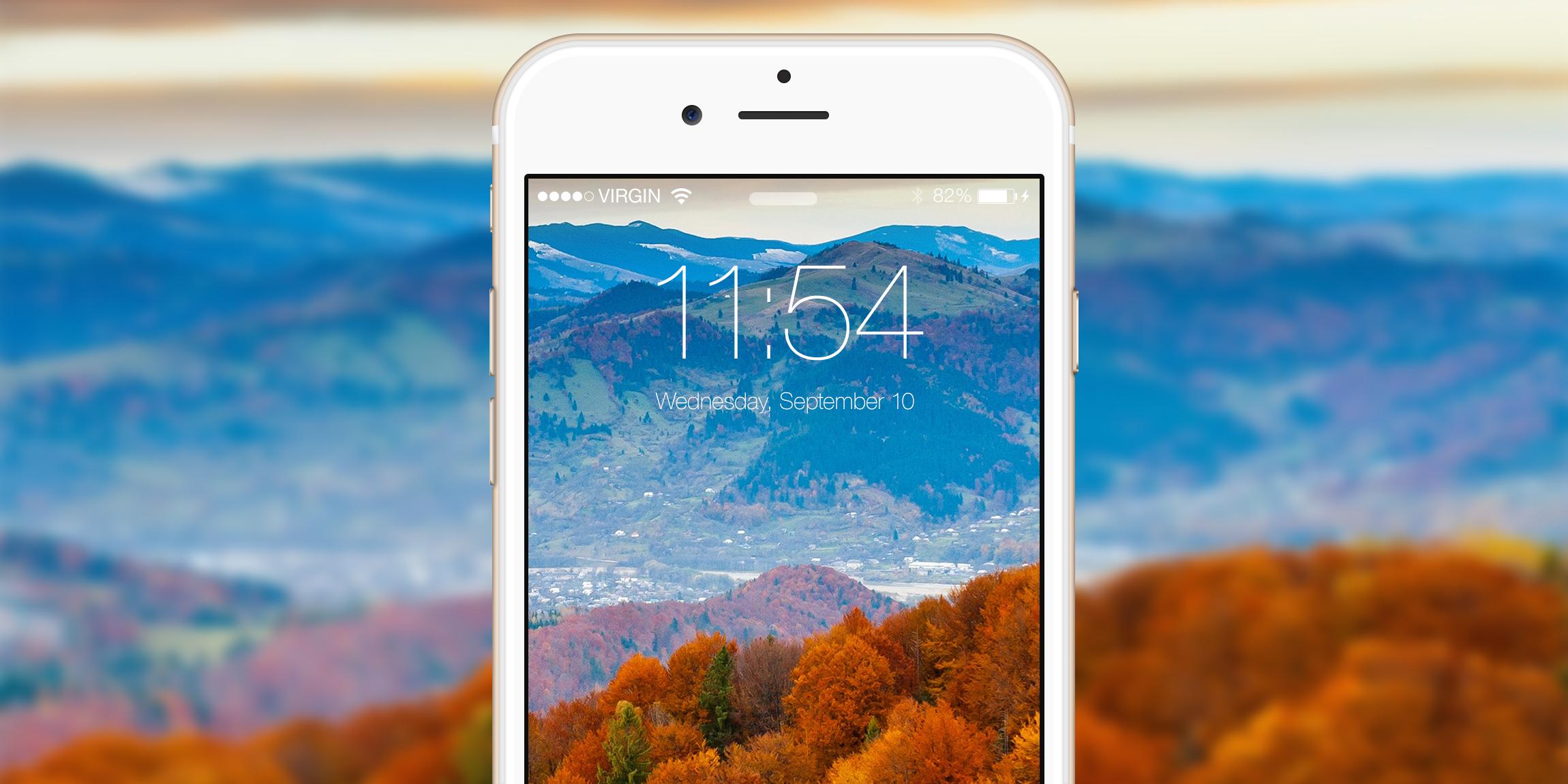 Обои для iPhone и iPad: Золотая осень