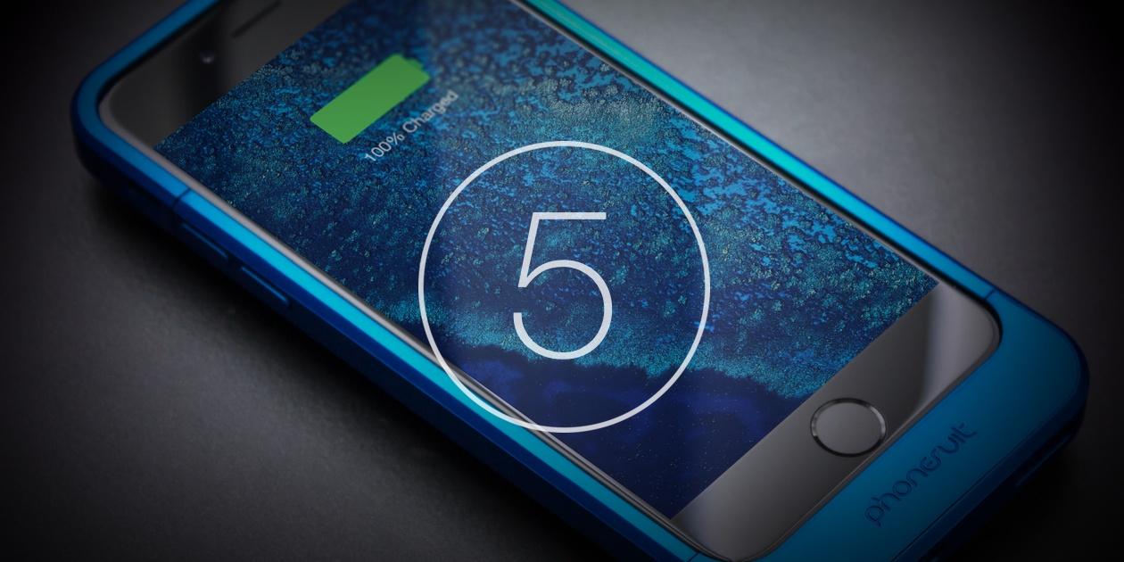 5 лучших чехлов-аккумуляторов для iPhone 6 и iPhone 6s