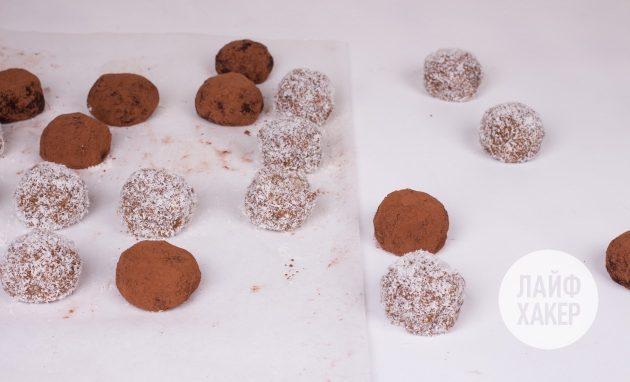 Готовые энергетические конфеты из тыквы с финиками