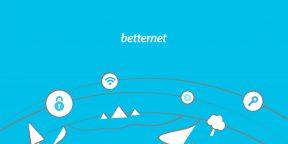 Betternet — бесплатный VPN без ограничений и даже без регистрации