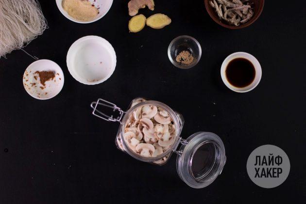 Суп быстрого приготовления в домашних условиях: выложите ингредиенты
