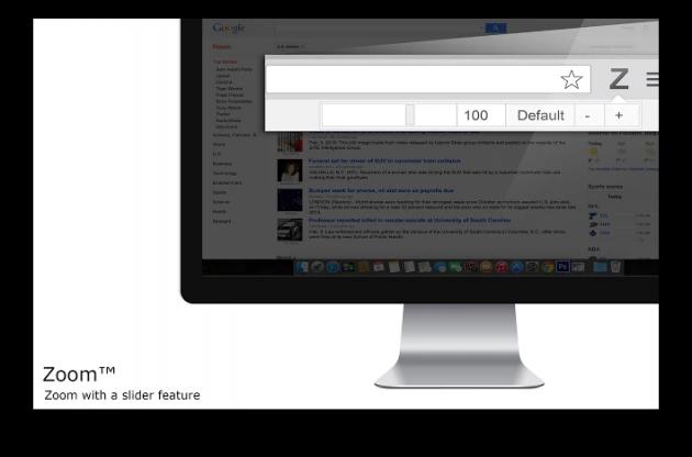 Расширения Chrome: тонкая настройка масштаба