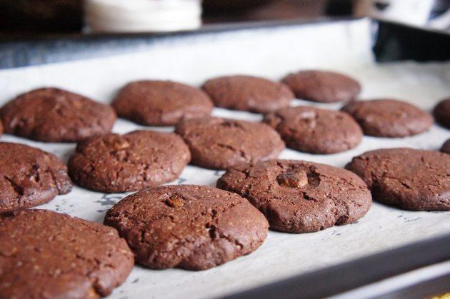 шоколадно-шоколадное печенье - рецепт.